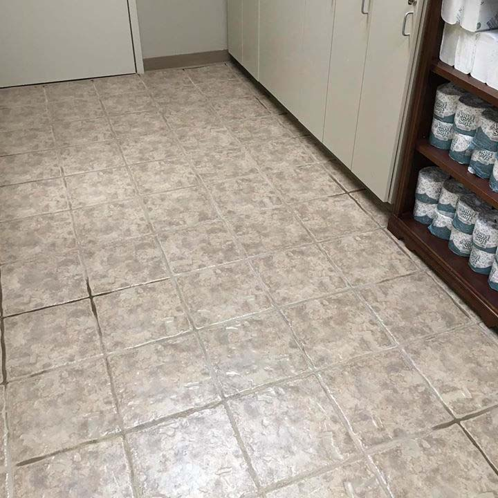 clean tile floor close up