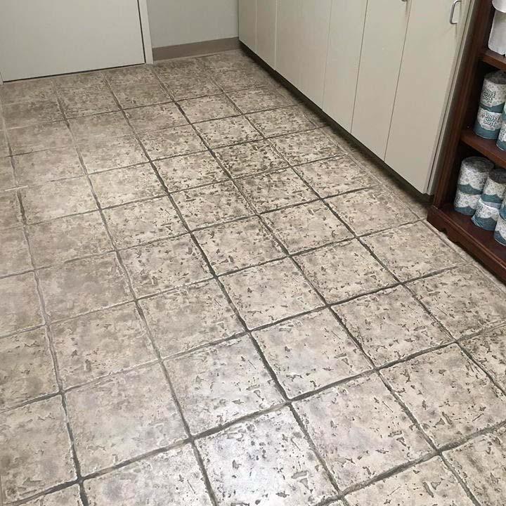 dirty tile floor